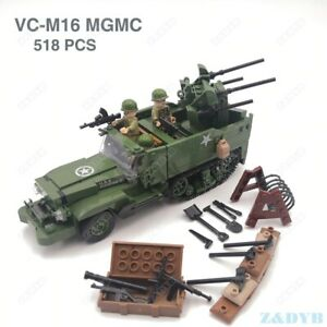 Military Vehicle Tank Panzer Toy WW2 Mini Soldier Figure Building Blocks Toys
