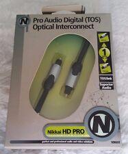 Nikkai Pro Audio Digital TOS Optical Interconnect 1m 24k gold