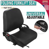 Komatsu Style Folding Forklift Seat Fits Clark Cat Hyster Yale Toyota Mitsubishi