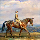 Wall Art Deco HD Canvas Print Oil painting Picture Horse riding on canvas L336