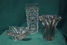 Lotto / Set di tre contenitori / vasi / vases in cristallo / crystal / cristal