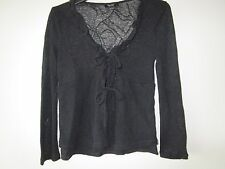 Girls Bardot Junior sheer black cardigan jacket  Size 6