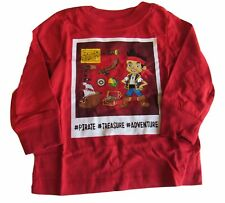 New Disney Jake and the Neverland Pirates Boys Shirt 12-18 Months Red #Treasure