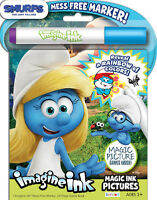 NEW 24pg Smurfs The Lost Village Imagine Ink Magic Pictures Activity Book