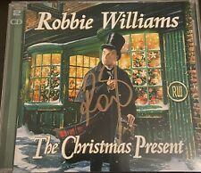 More details for robbie williams signed double christmas cd