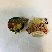 Vintage Disney World Pin Traders Tomorrow land New Orleans Square Mickey Donald