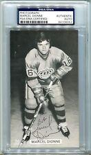 Marcel Dionne J.D. McCarthy Auto Autograph Postcard PSA/DNA Los Angeles Kings