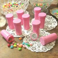 Special Pink Color ! 12 Pill Bottles PINK JARS PINK CAPS Doc McStuffins Party