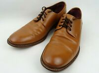Mens TED BAKER lace up formal smart TAN leather SHOES size UK 8 IRRON 2 free p&p
