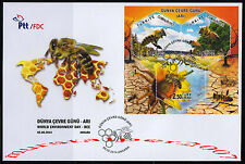 TURKEY 2014, WORLD ENVIRONMENT DAY BEE ( ANIMAL , HONEY ) FDC