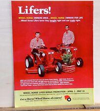 1968 magazine ad  for Wheel Horse Garden Tractors