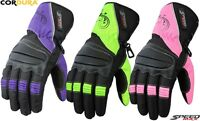 LADIES COLOUR RANGE WOMENS CE MOTORBIKE / MOTORCYCLE / MOTOCROSS TEXTILE GLOVES
