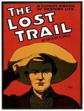 "18x24""Decoration CANVAS.Interior room design art.The lost trail.Western.6455"