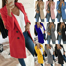Women Lady Long Sleeve Slim Blazer Suit Coat Work Jacket Formal Suits Plus Size