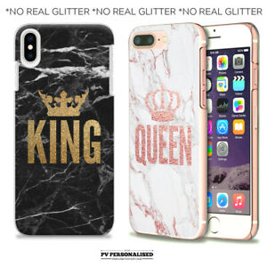 PERSONALISED PHONE CASE VALENTINE MATCHING QUEEN KING FOR IPHONE 11 7 8 XR XS