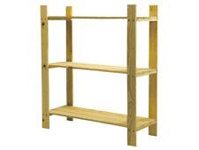 Natural Wood 3 Shelf Slatted Storage Unit - SSU3