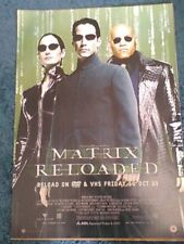 Matrix Reloaded (Keanu Reeves Laurence Fishburne) 2003 A2 Movie Poster