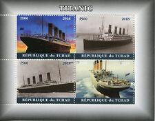Chad 2018 CTO Titanic 4v M/S I Boats Ships Nautical Stamps
