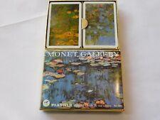 Platnik Playing Cards Monet Gallery Lillies Bridge 2 Decks of Cards pre-owned