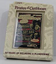 D23 Expo 2017 Exclusive Disney Pirates Caribbean 50 Years Ann. Jumbo Pin LE 500