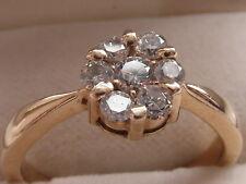 Q130 Ladies 14ct gold 0.50 carat VS2 colour G Diamond cluster engagement ring
