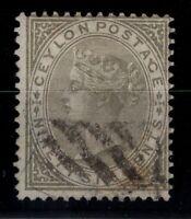 P131875/ CEYLON / BRITISH COLONY / SG # 132 USED VARIETY WMK INVERTED - CV 300 $