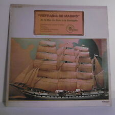 """33T REFRAINS MARINS Disque LP 12"""" DE LA MER DU NORD A LA BRETAGNE -EMIDISC 51464"""