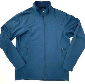 Patagonia R1 Regulator Full Zip Jacket Mens Large Blue Zip Pockets