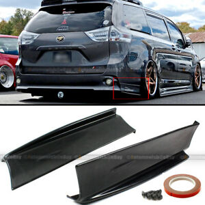 For 11-18 Toyota Sienna SE MP Style Rear Bumper Lip Apron 2 Piece Left & Right