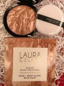 LAURA GELLER All Over Glow Baked Body Frosting TAHITIAN GLOW .85oz Super Sz +Box