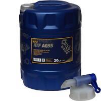 20 L MANNOL Getriebeöl ATF AG55 Hydraulic Fluid Automatik Gear + Auslaufhahn