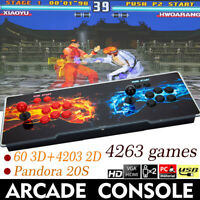4263 In 1 Pandora 20S 3D Retro Video Game Game Double Stick Arcade Consol New US