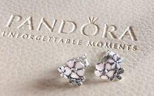 Genuine PANDORA Poetic Blooms Stud Earrings 290686ENMX S925 ALE