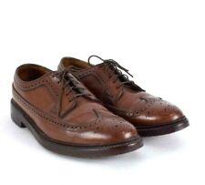 Vtg Florsheim Imperial Brown Leather Wingtip Oxford Dress Shoes V Cleat Mens 8 D