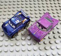 Disney Cars 3 Mini Racers Die Cast Cars Lot (2) Ramone Metallic Danny Swervez