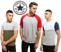 Converse Chuck Mens T-Shirt Tri Colour Block Blend Casual Sports Tee Shirts