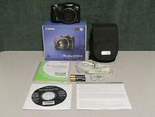 Canon PowerShot SX150 IS 14.1 Megapixel 12X Zoom Digital Camera in Box ~ w/ Case