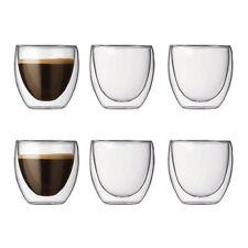 Gläser Espresso Bodum Heisse Kalte Getränke Isolieren Doppelwandig 6er Set 80 ml