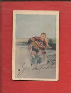 1952-53  PARKHURST  # 38  JIM McFADDEN  Chicago Black Hawks   Very Good