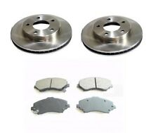 FRONT BRAKE DISCS & SEMI-METALLIC PADS - CHRYSLER GRAND VOYAGER RT 2008-2011