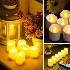 Electric Fake Candle Yellow LED Tea Lights 2-Mode Flickering with Remote Control