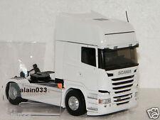 SCANIA SERIE R STREAMLINE BLANC R500 V8 TRACTEUR SEUL ELIGOR 1/43 Ref 115137