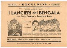 FLYER CINEMA EXCELSIOR CHIASSO GARY COOPER ANNI 30