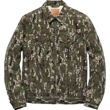 SUPREME x Levi Sherling Lined Camouflage Canvas Trucker Jacket M Tree Camo FW 13
