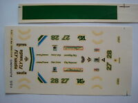 F1 DECALS KIT 1/43 WILLIAMS FW-07 F1 1979 JONES-REGAZZONI 1/43 DECALS