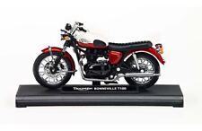 Triumph Bonneville T100 Dicast Scale Model 1:18 Red