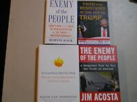 Lot 4 ANTI-Donald TRUMP Books Enemy of the People President Administration War
