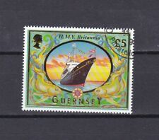 GUERNSEY 1998 £5 SHIP (9) USED