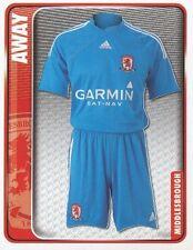 163 AWAY KIT ENGLAND MIDDLESBROUGH.FC STICKER FL CHAMPIONSHIP 2010 PANINI