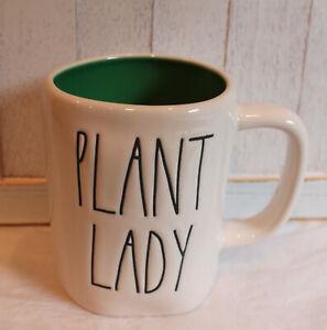 New Rae Dunn LL PLANT LADY Mug With Green Interior